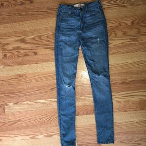 High-rise hollister jeans